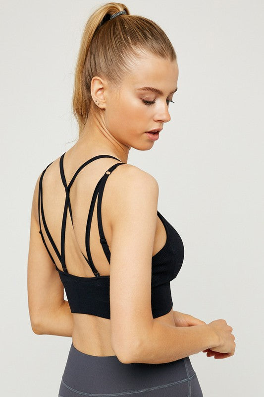 The Hattie Mesh Strap Back Sports Bra