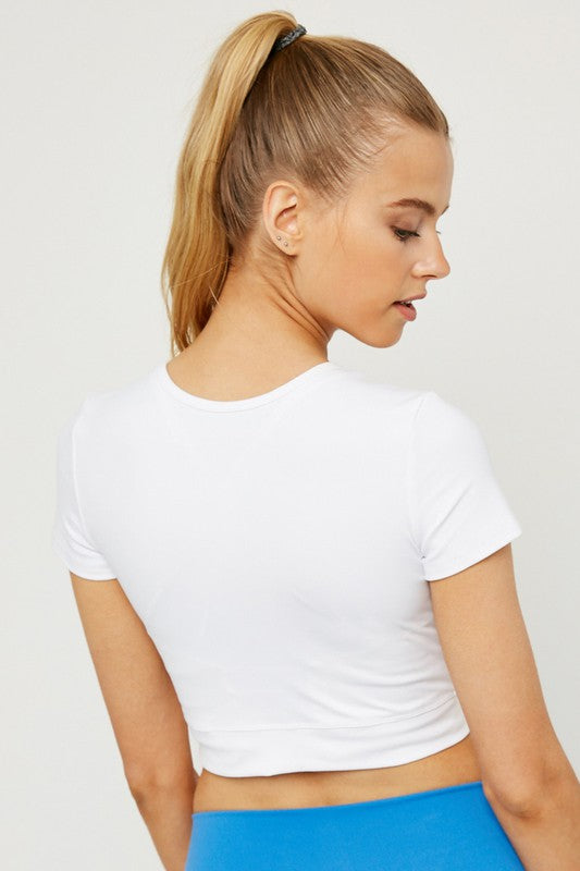 The Myra V-Hem Active Crop Top