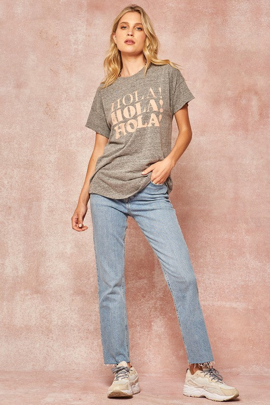 The Hola Vintage Washed Graphic Tee