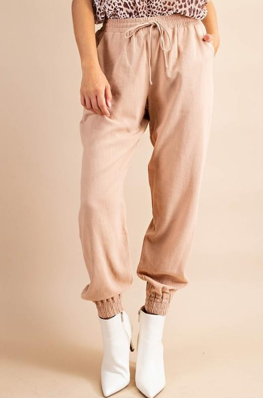The Kendall Relaxed Fit Linen Joggers