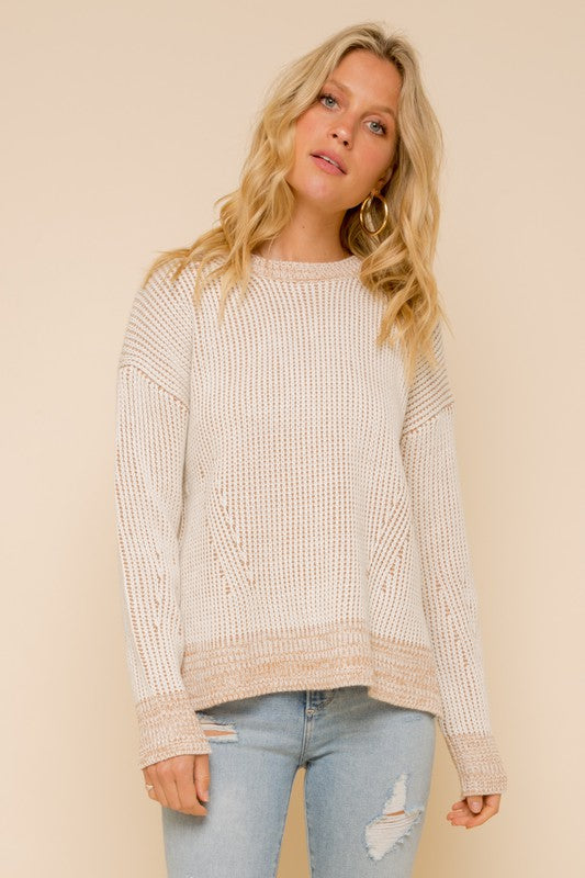 The Gina Chunky Ribbed Round Neck Sweater