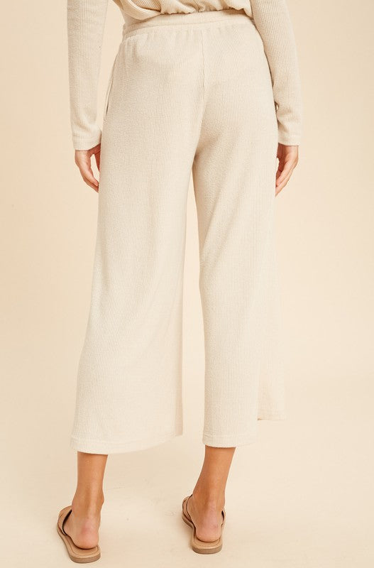 The Cherie Hacci Knit Cropped Lounge Pants