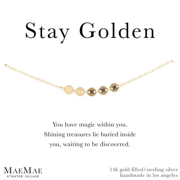 Stay Golden Bracelet by MaeMae