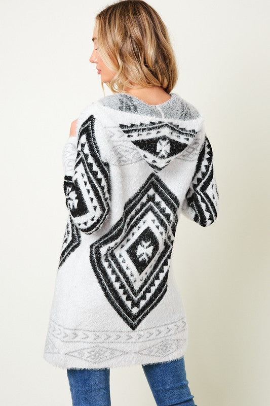 The Sonnie Aztec Hooded Cardigan