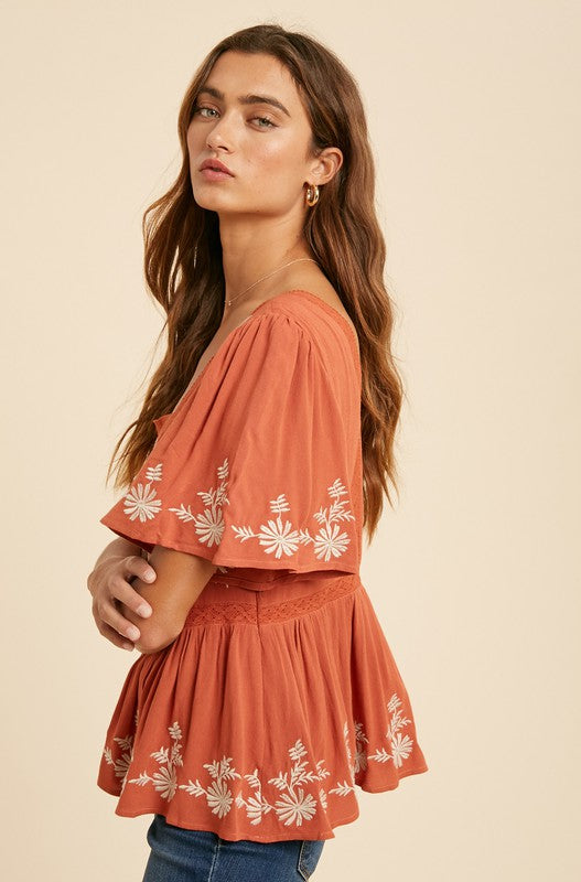 The Ophelia Embroidered Top