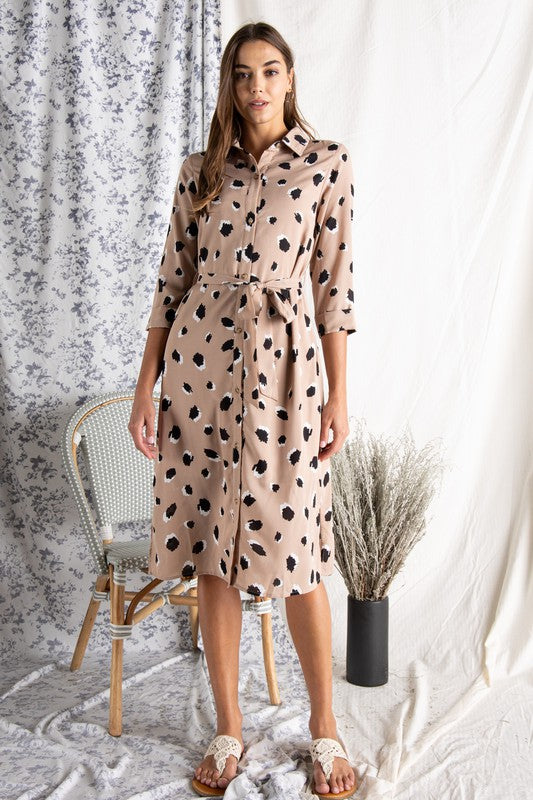 The Margo Leopard Shirt Dress
