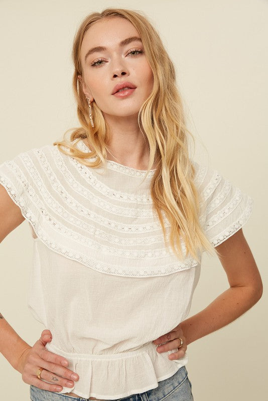 The Sarahi Textured Short Sleeve Top