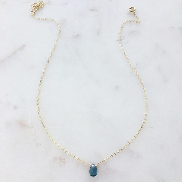 The London Blue Topaz Necklace By Token Jewelry