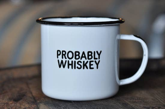 Probably Whiskey Enamel Mug by Swag Brewing