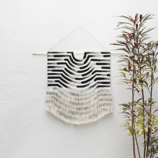 Small Painted Wave Wall Hanging by Julia Canright