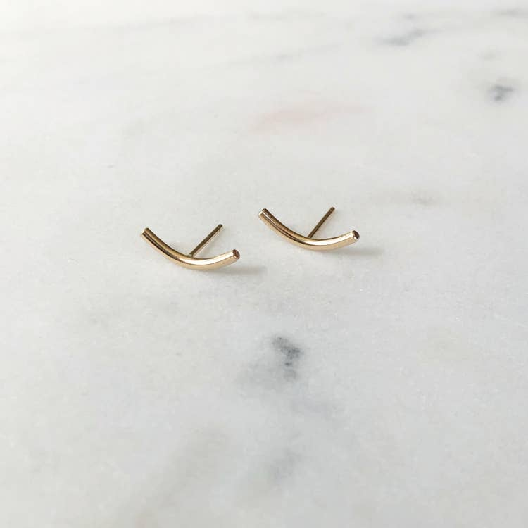 Boomerang Earrings by Token Jewelry