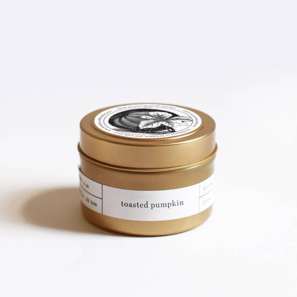 The Toasted Pumpkin Gold Travel Candle by Brooklyn Candle Studio