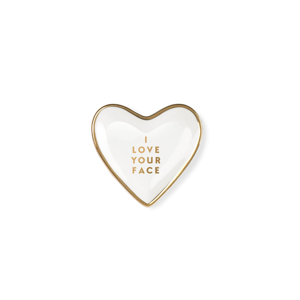 Love Your Face Tiny Ceramic Tray