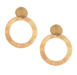 The Aretha Gold Post Resin Hoop Earrings