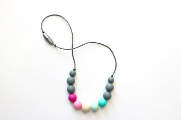 Toddler Rainbow Gray Necklace