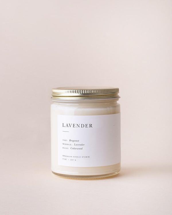 The Lavender Minimalist Candle by Brooklyn Candle Studio