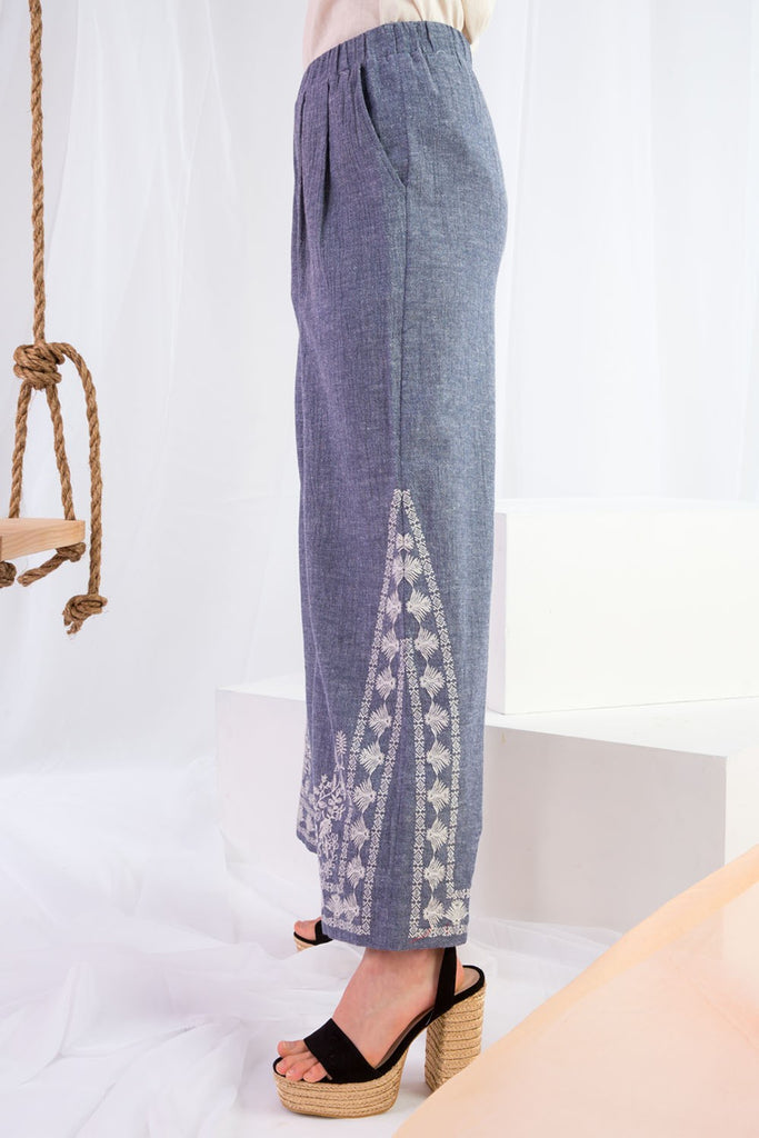 The Giselle Embroidered Linen Pants
