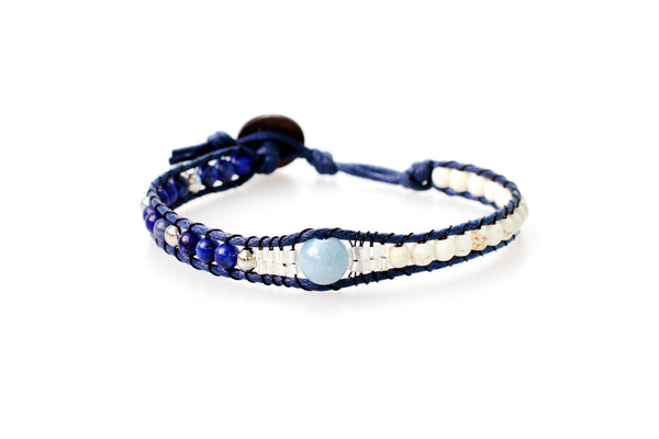 Heart of the Sea Beaded Bracelet by Lotus and Luna