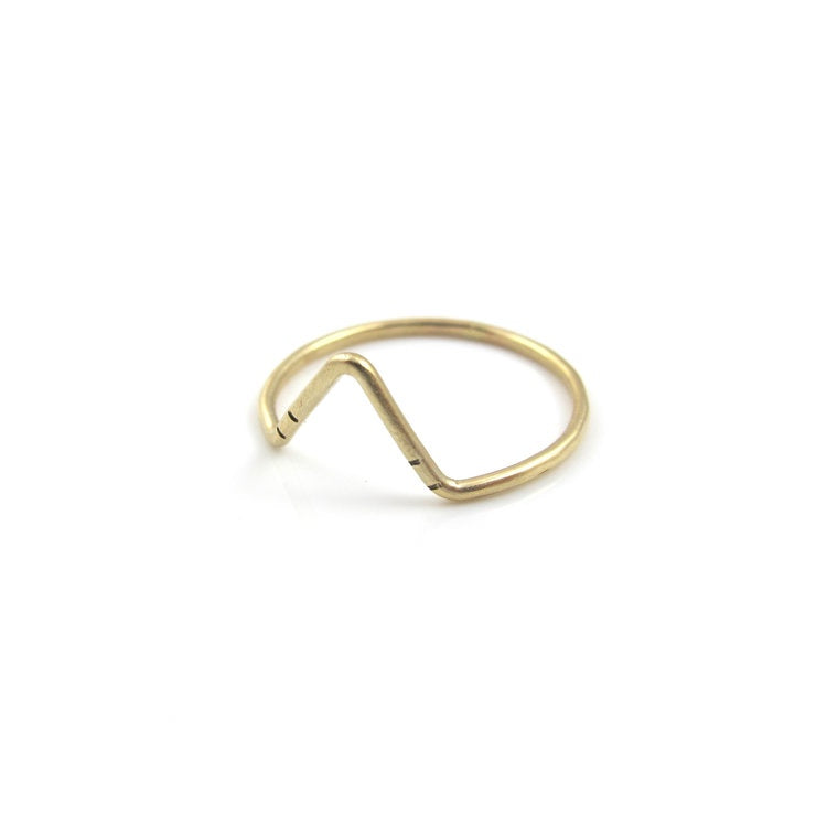 Peak Stacking Ring by Goldeluxe Jewelry