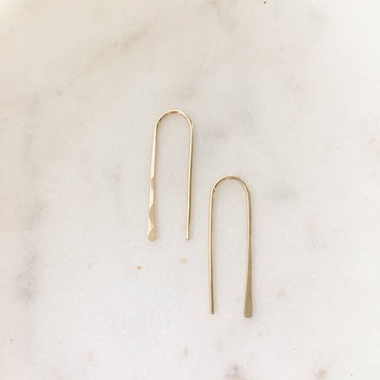 Hairpin Threader Earrings by Token Jewelry