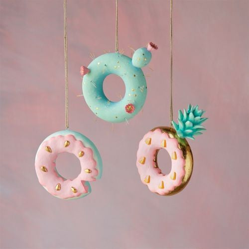 Tropical Donut Ornaments