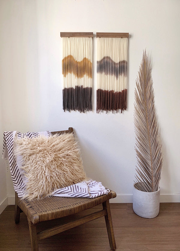 Earth Tone Wall Hangings by Color + Peaks