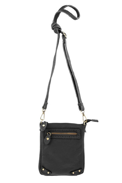 Mini Faux Leather Crossbody Bag