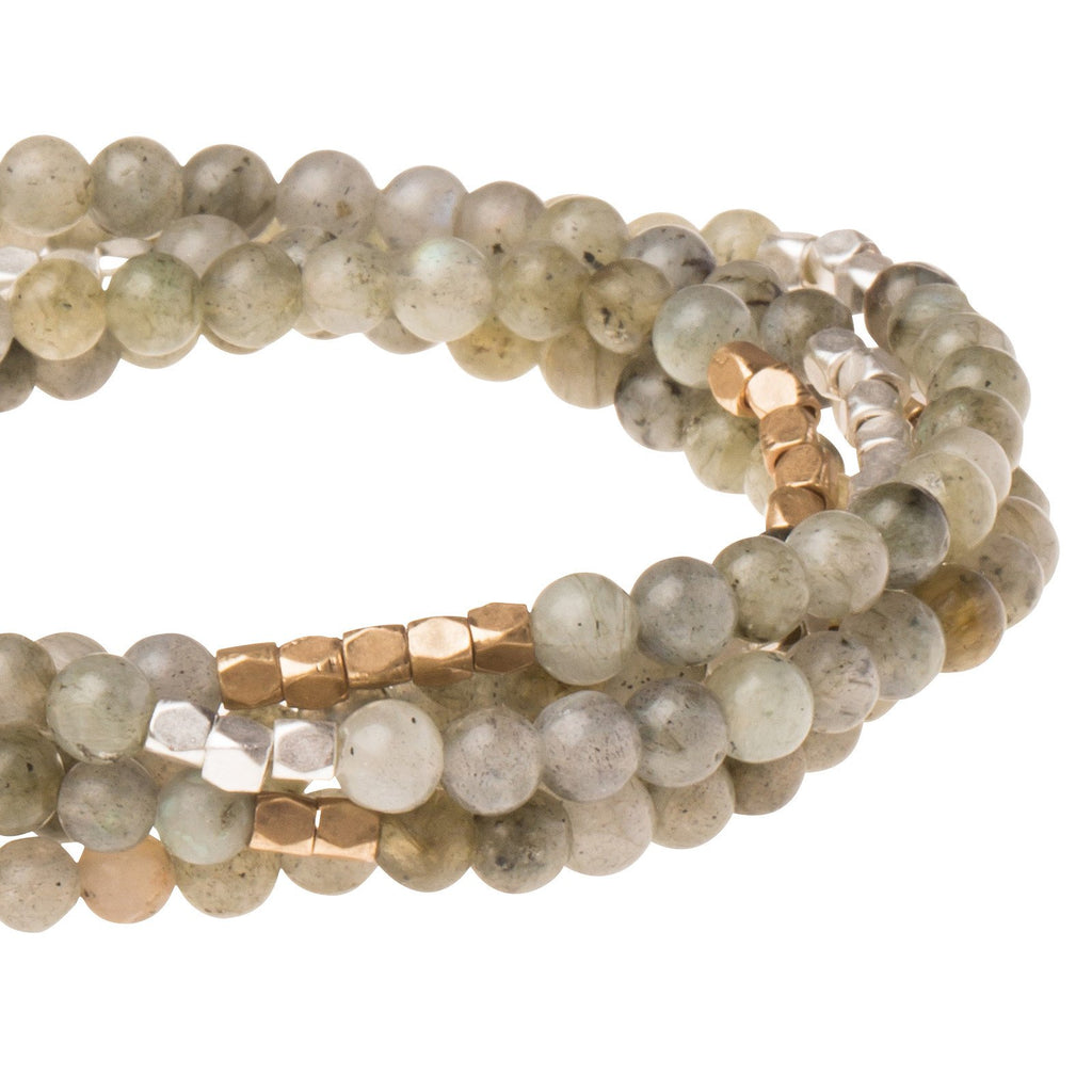 Magic Labradorite Stone Wrap Dainty Bracelet/Necklace