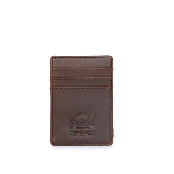 Nubuck Raven Leather Wallet by Herschel Supply Co.