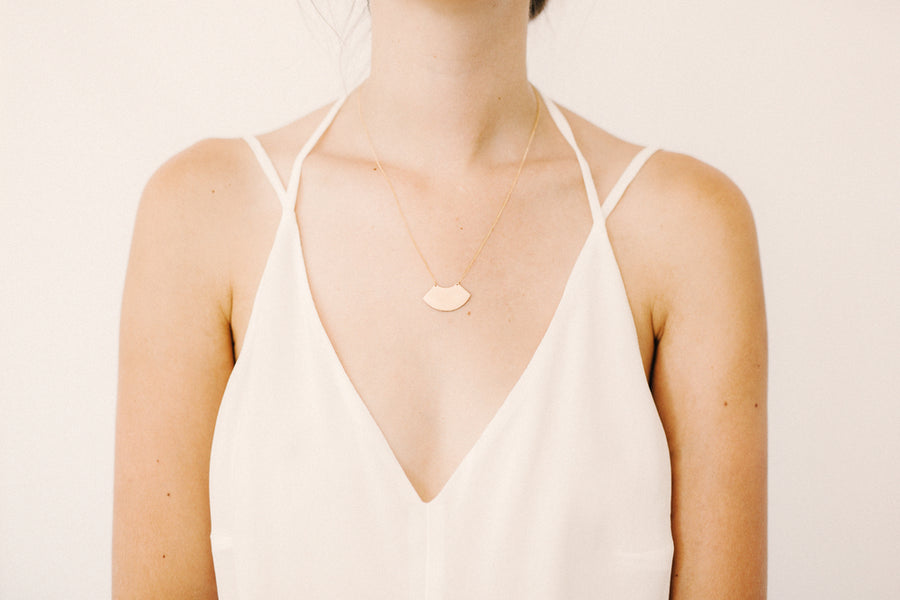 Artifact Plate Necklace by Favor Jewelry