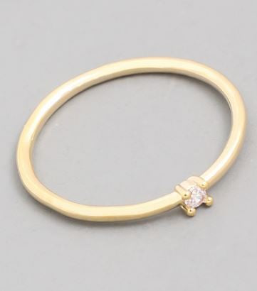 The Felicity Dainty Mini Gem Ring