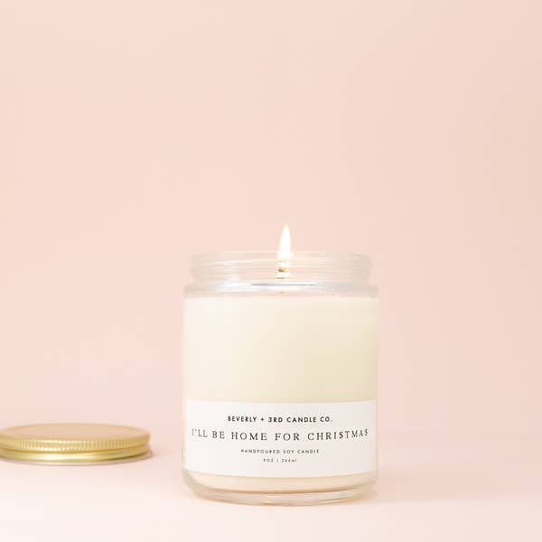 I'll Be Home For Christmas Candle by Beverly + 3rd