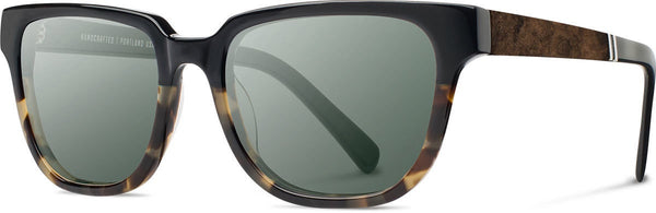 Prescott Black Olive Acetate with Elm Inlay Sunglasses by Shwood