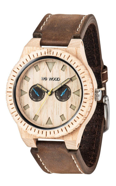 WeWood Leo Leather Watch - Beige