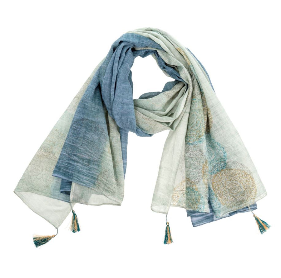 The Maldives Cotton Tassel Scarf