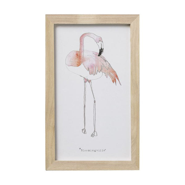 Flamingo Wood Framed Print