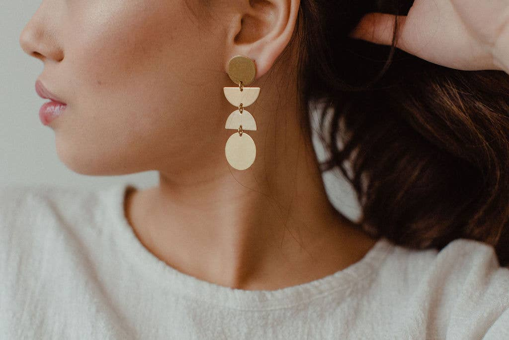 The Bramasa Brass Earrings by Found & Feral