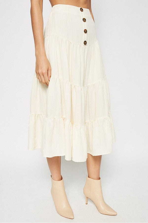 The Lydia Tiered Midi Skirt