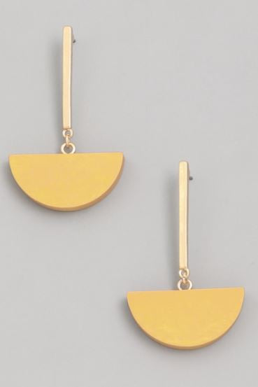 The Greta Semi Circle Dangle Earrings