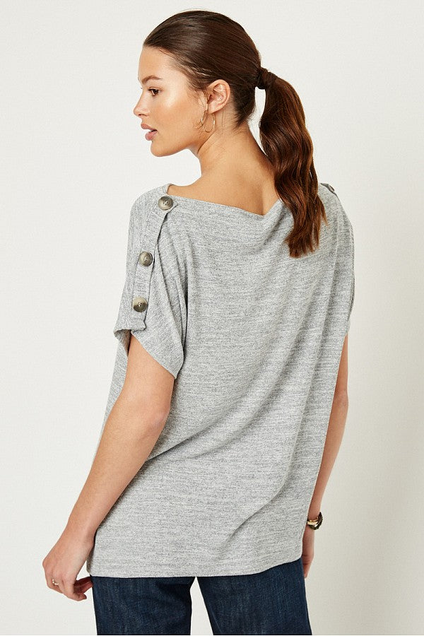 The Zara Button Off the Shoulder Top