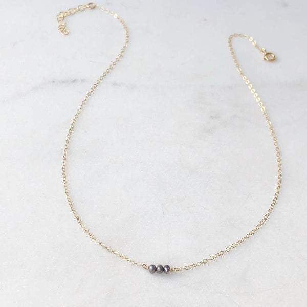 The Smokey Pearl Necklace By Token Jewelry