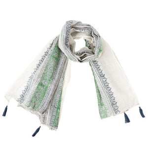 The Bali  Cotton Tassel Scarf