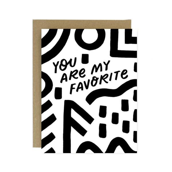 You Are My Favorite Card by Worthwhile Paper