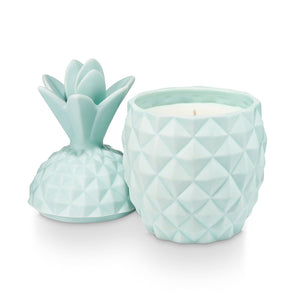 Sugared Blossom Ceramic Pineapple Candle