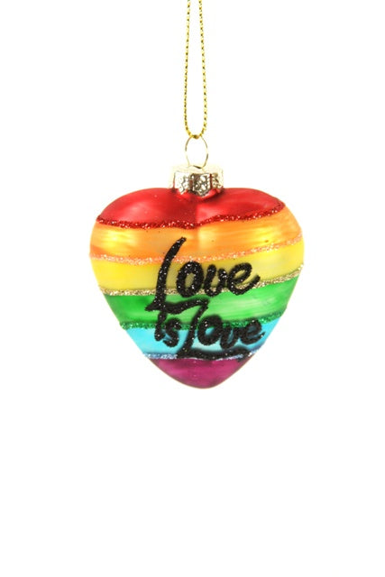 Love is Love Heart Ornament