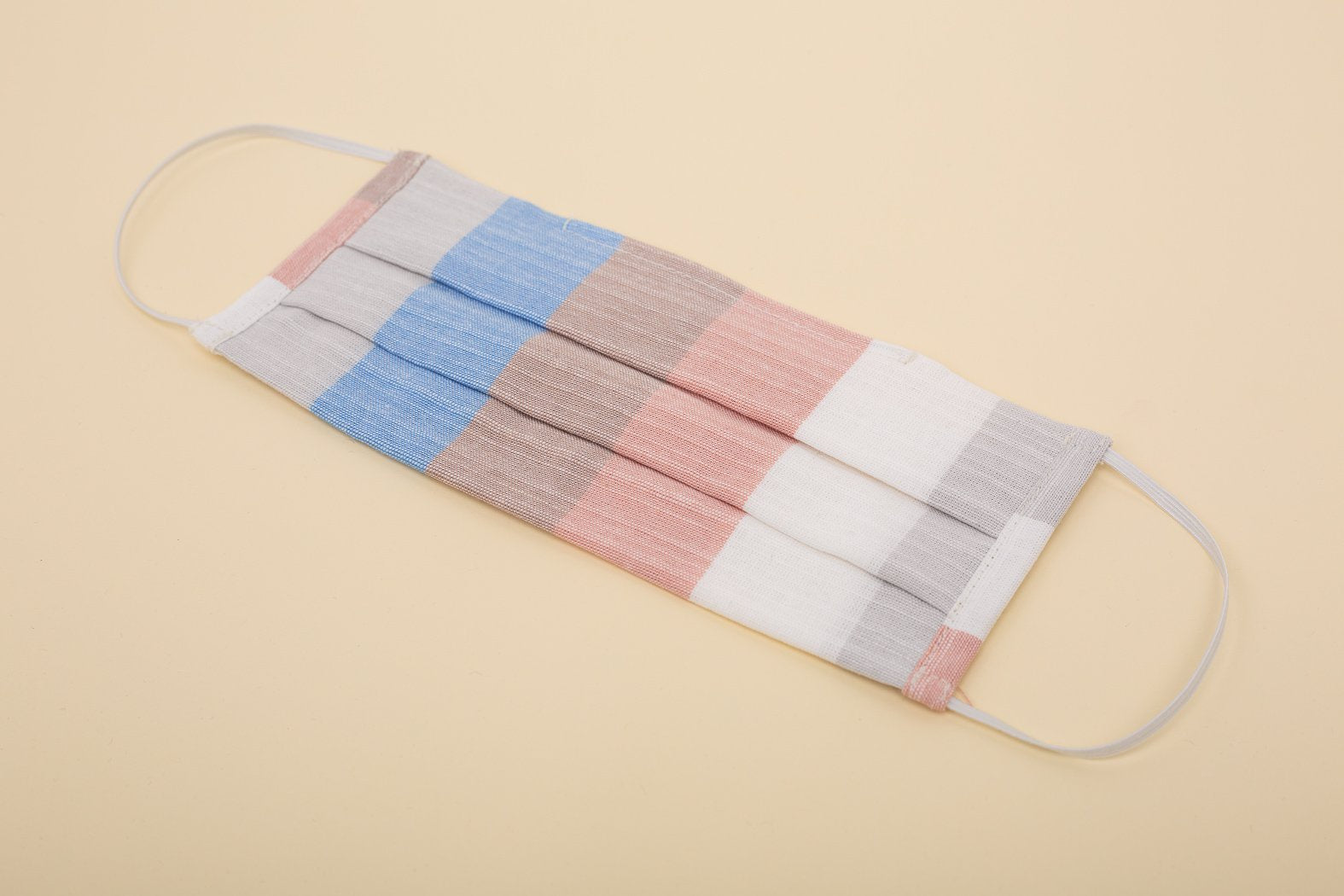 The Joanne Fabric Face Mask - Red Multi Stripe