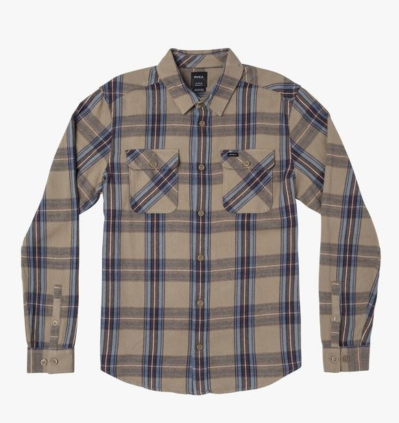 The Reverberation Plaid Button-Up Flannel by RVCA
