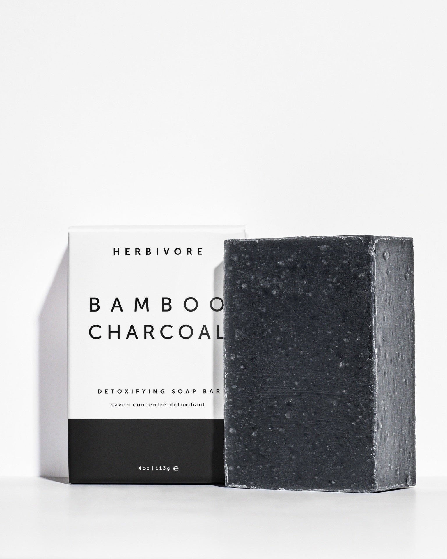 Bamboo Charcoal Cleansing Bar Soap by Herbivore Botanicals