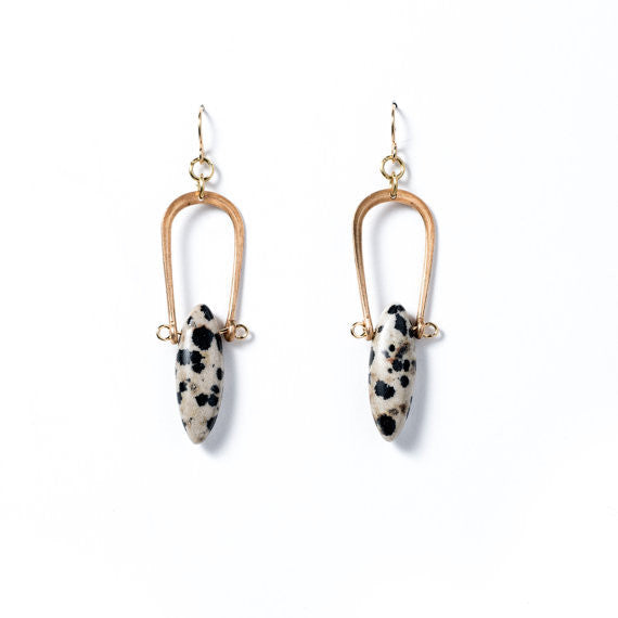 Dalmatian Jasper Amulet Earrings by Michelle Starbuck Designs