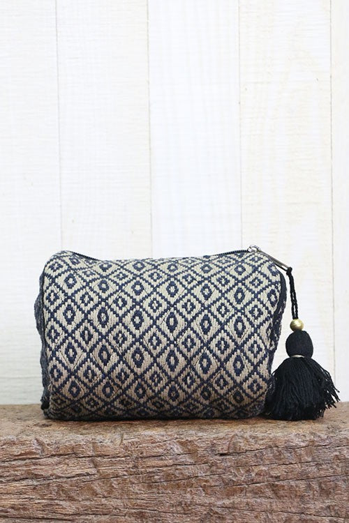 The Shannon Ikat Tapestry Makeup Bag